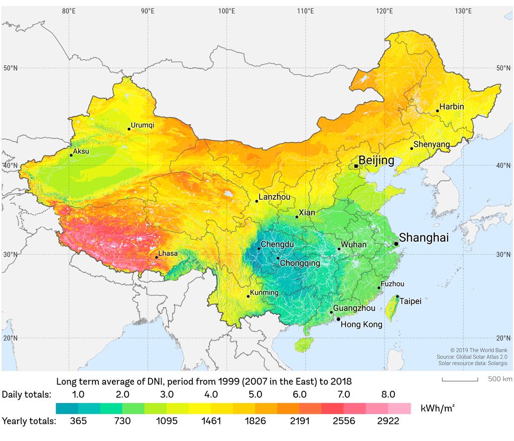 China DNI Map
